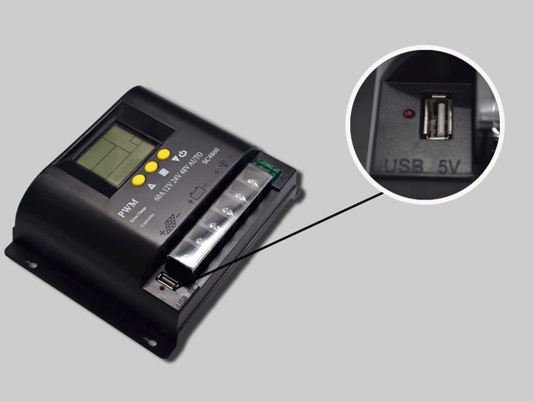 12V/24V/48V 60A LCD PWM Solar Charge Controller SYC4860-10