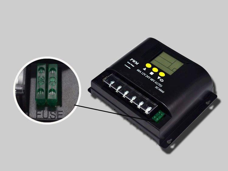 12V/24V/48V 60A LCD PWM Solar Charge Controller SYC4860-11
