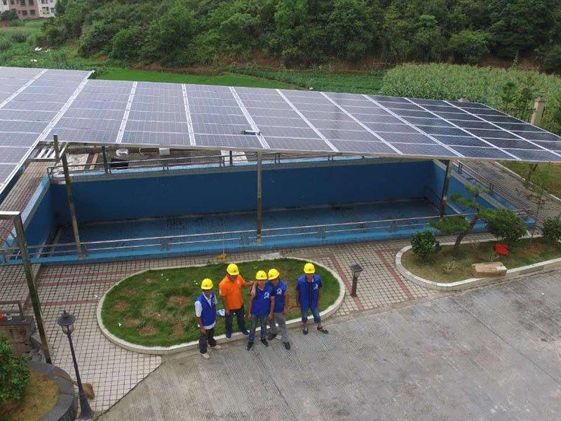 Qingyuan 55.44KW ON-GRID SOLAR SYSTEM