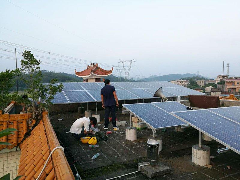 Dongjing village 10.932KW solar system poverty alleviation project