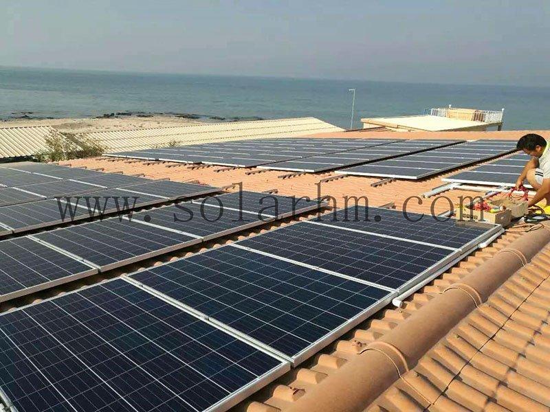 Qatar 60KW off grid solar system