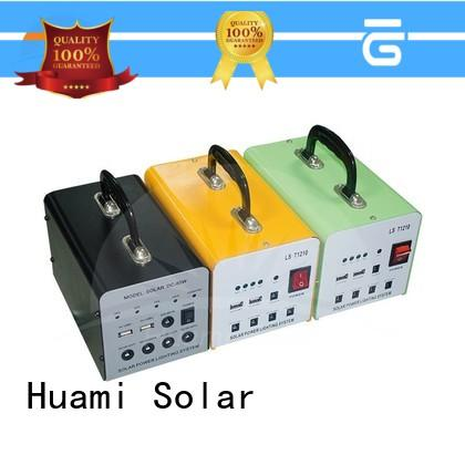Huami muti-function solar power generator kit high brightness for factory