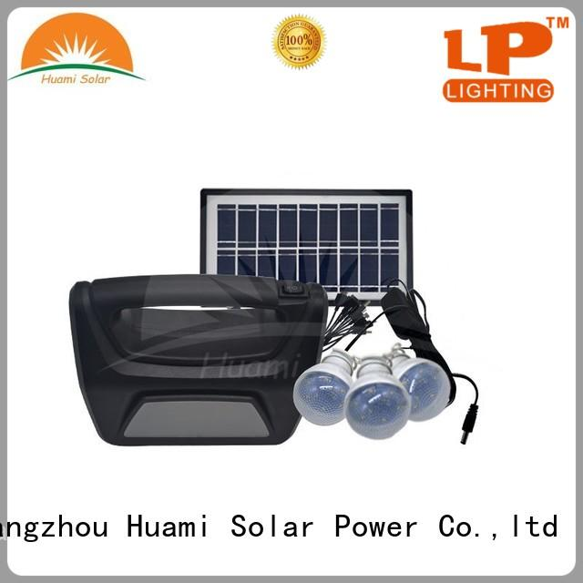lighting dc80w Huami Brand portable solar panel kits for home factory