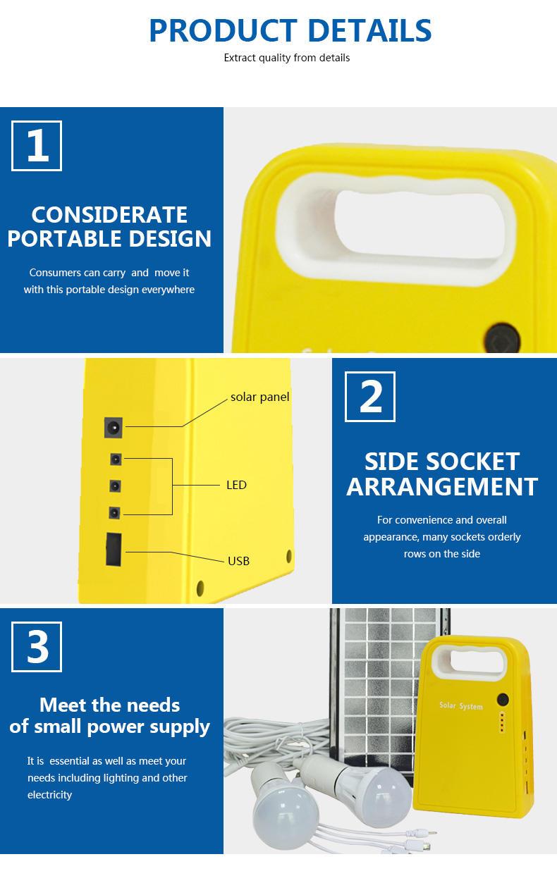 portable solar panel kits for home lighting solar generator small solar kit manufacture