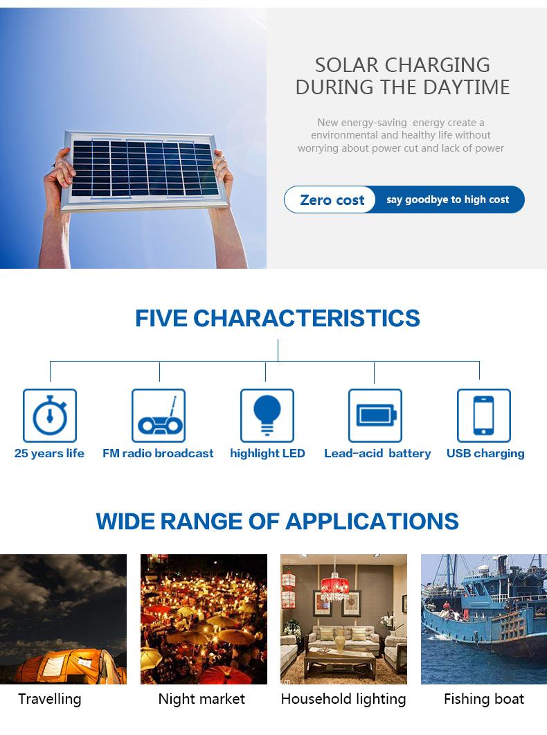 Huami long lighting time small solar kit manufacturer for factory-4