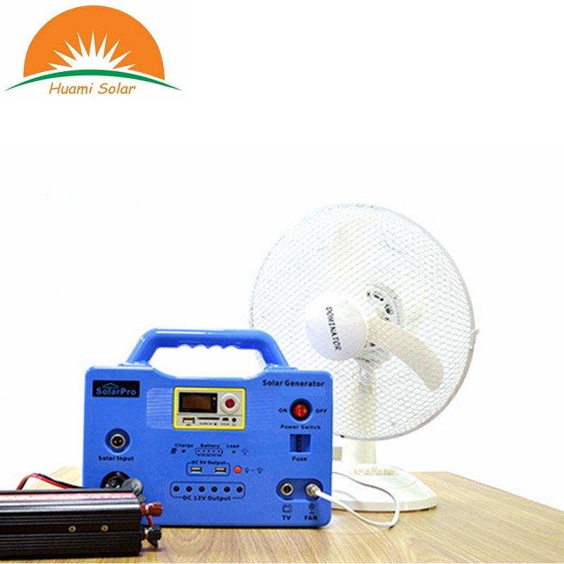 20W Camping Use MP3 Radio Function Solar System Generator