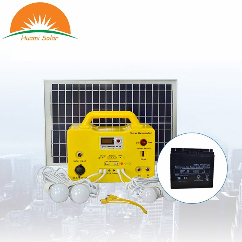 Huami 20W Camping Use MP3 Radio Function Solar System Generator Solar Kit image28