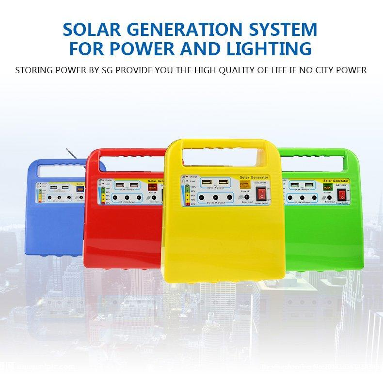 portable solar power generator kit mp3 one year warranty for industry