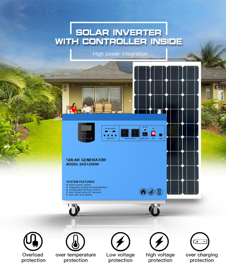dc80w portable small solar kit kit Huami