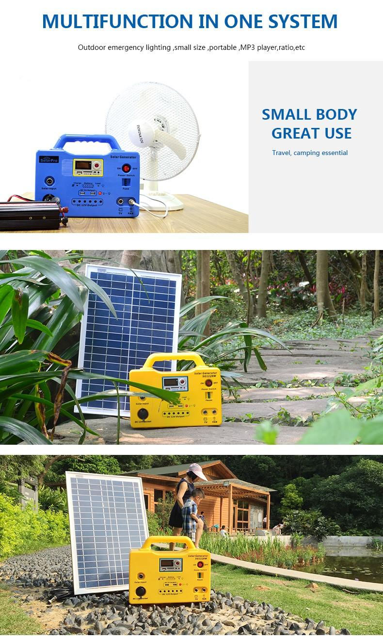 long lighting time portable solar generator kit 65ah high brightness for manyfacturer-3