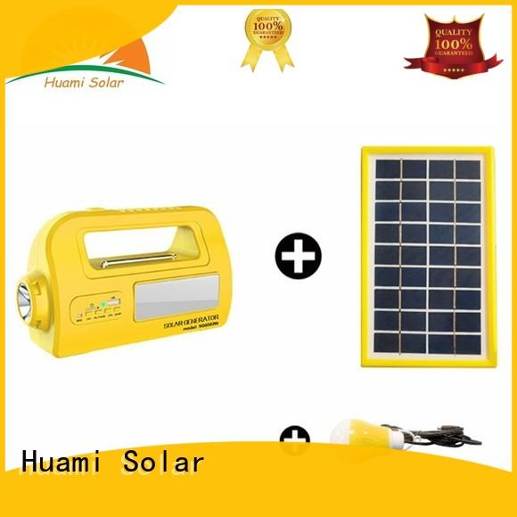 Huami long lighting time solar kits for sale high brightness