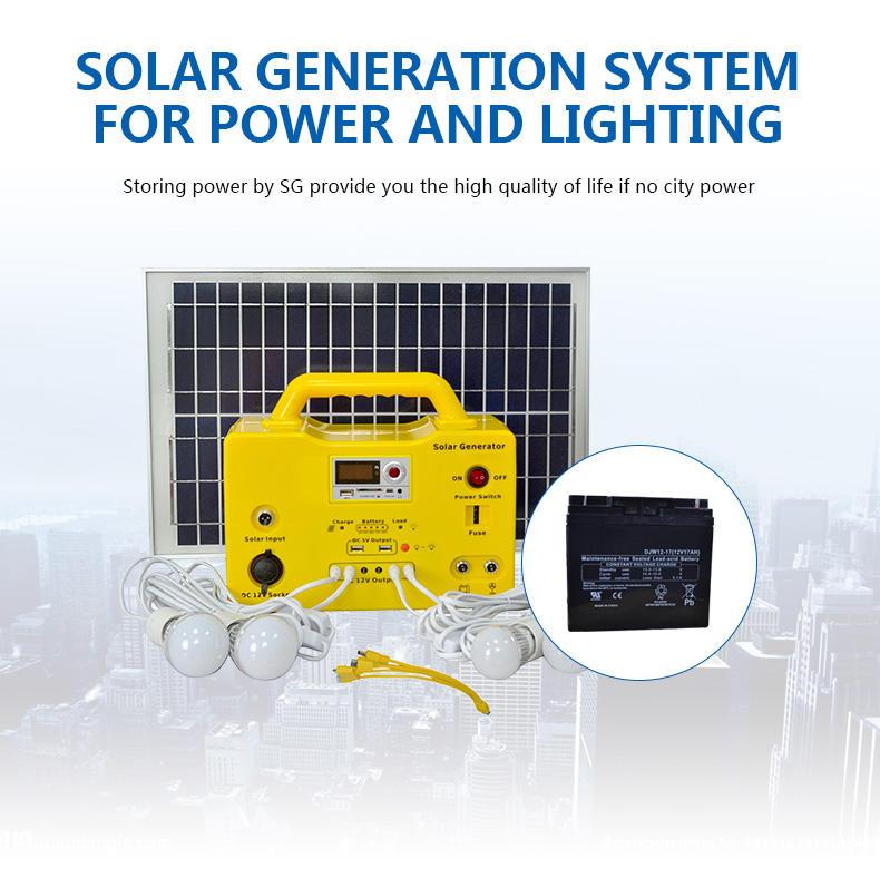long lighting time portable solar generator kit 65ah high brightness for manyfacturer-1