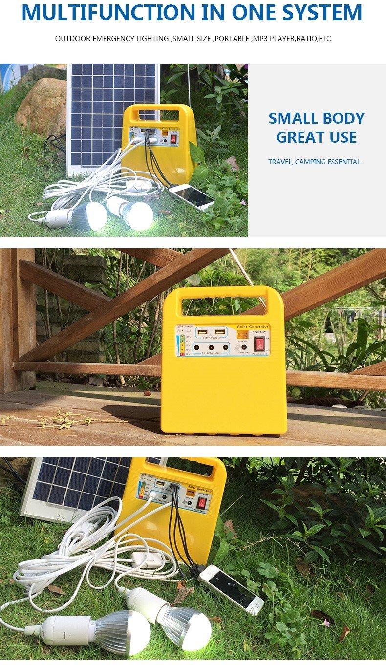 portable solar power generator kit mp3 one year warranty for industry-3