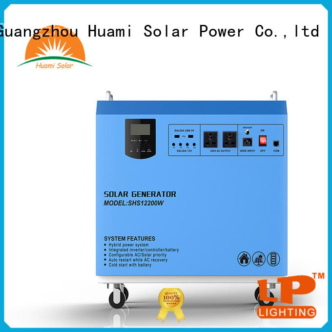 Huami muti-function solar panel kit with battery one year warranty for factory