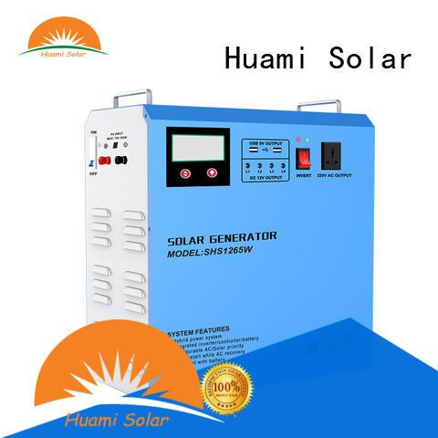 Huami portable portable solar generator kit manufacturer for industry