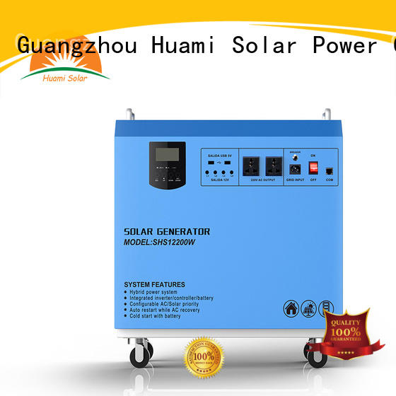 Huami 20w solar power generator kit manufacturer for industry