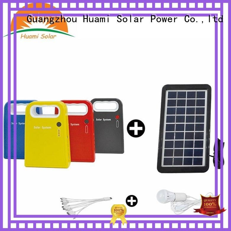 Huami muti-function solar panel kit with battery manufacturer for factory