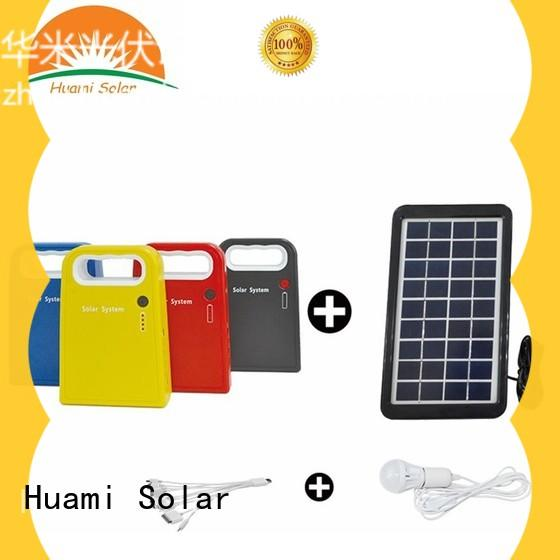 Huami long lighting time small solar kit manufacturer for factory